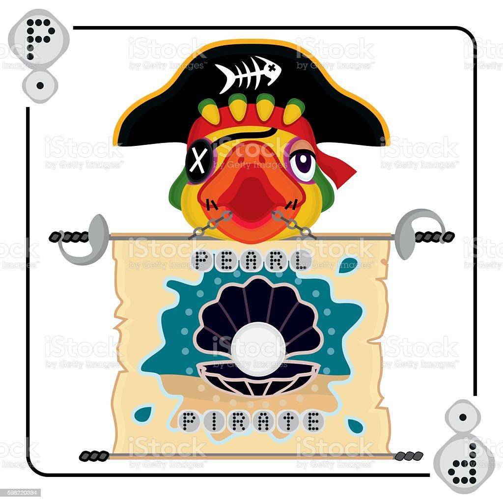 illustration of Pearl Pirate ilustração de illustration of pearl pirate e mais banco de imagens de animal de estimação royalty-free