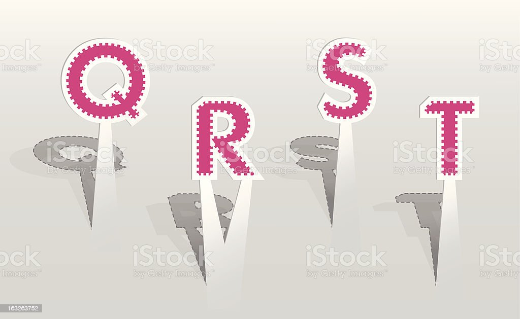 Illustration of pink paper letters royalty-free illustration of pink paper letters stock vector art & more images of abstract