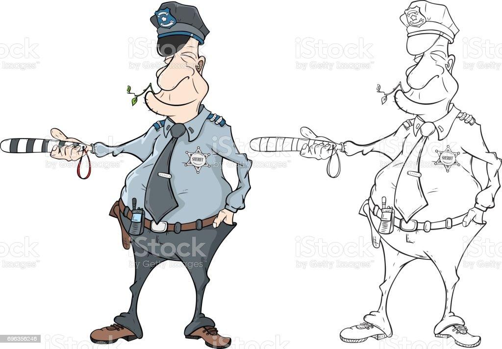 Vetores De Ilustracao Do Livro De Colorir De Policial E Mais