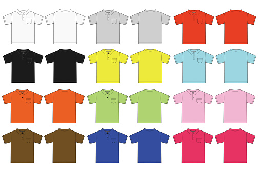 Illustration of Polo shirt / color variations