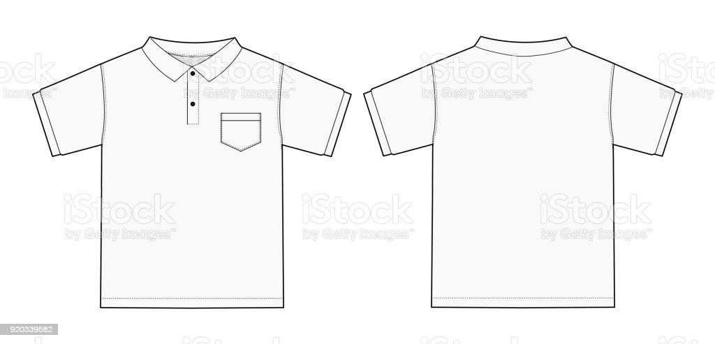 Illustration of Polo shirt (white)