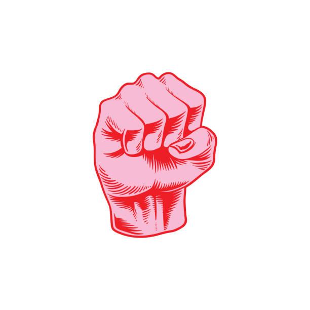 力拳のアイコンの図 - 拳 イラスト点のイラスト素材/クリップアート素材/マンガ素材/アイコン素材
