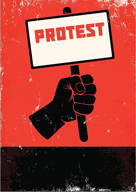 ilustrações de stock, clip art, desenhos animados e ícones de ilustração de protesto - greve