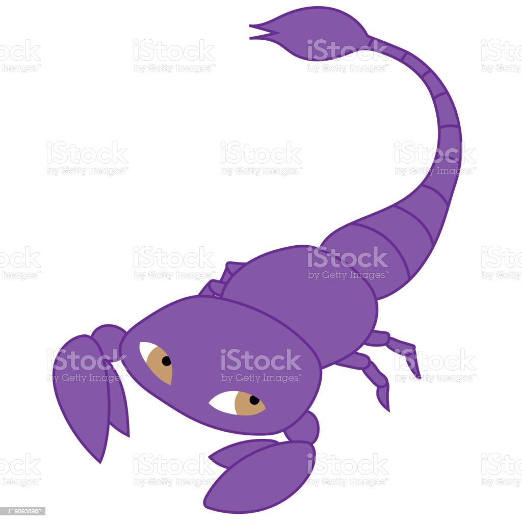 紫色のサソリのイラスト 12星座のベクターアート素材や画像を多数ご用意 Istock