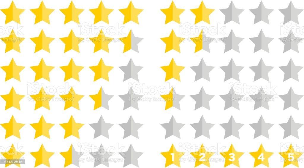 Illustration of Ranking(Star) vector art illustration