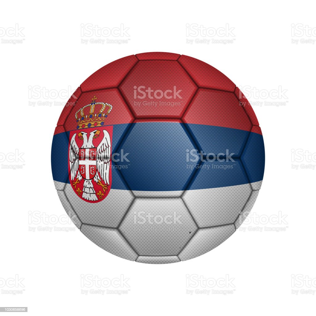 6596e600a Illustration of realistic soccer ball painted in the national flag of  Serbia for mobile concept and web apps. Illustration of national soccer ball  can be ...