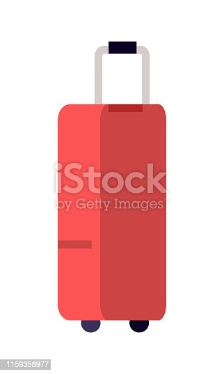 istock Illustration of Red Suitcase 1159358977