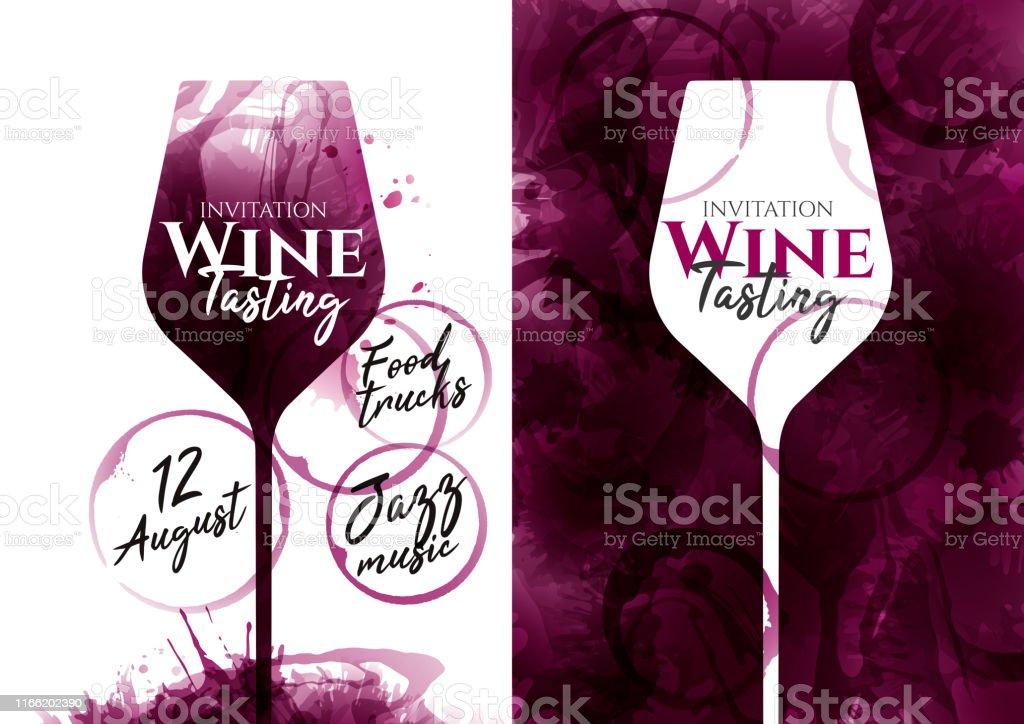 Illustration De Verre De Vin Rouge Avec Des Taches De