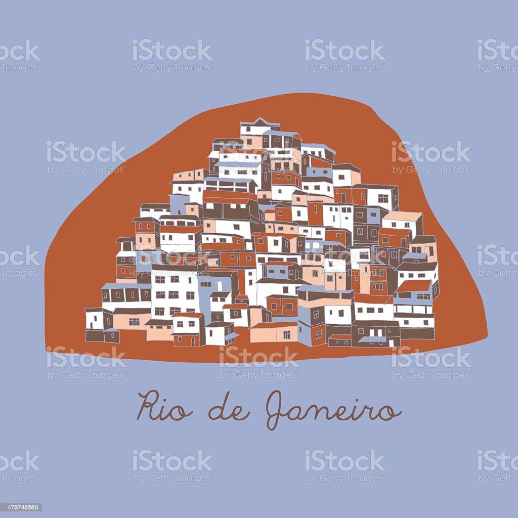 Illustration of Rio de Janeiro Buildings vector art illustration