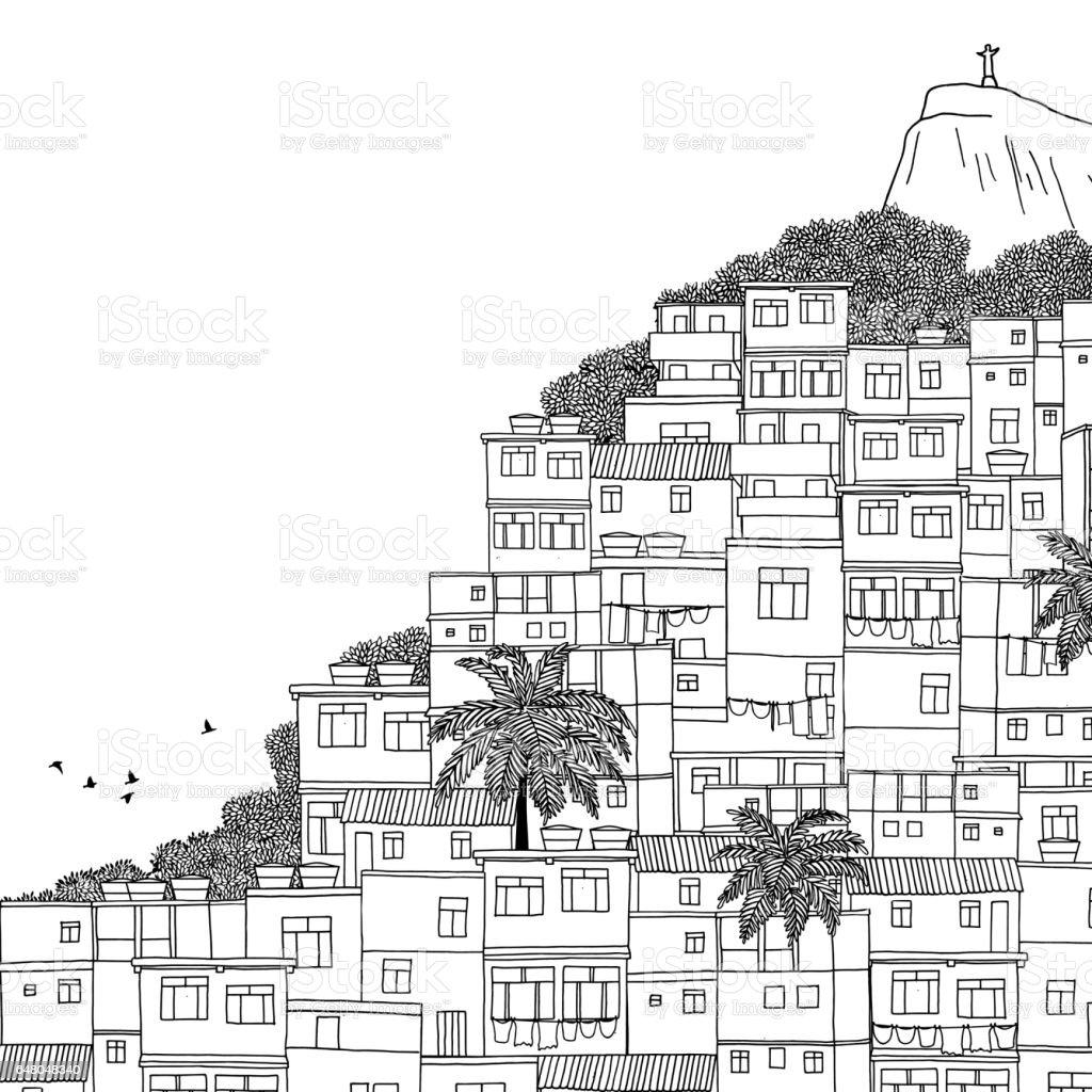 Illustration of Rio de Janeiro vector art illustration
