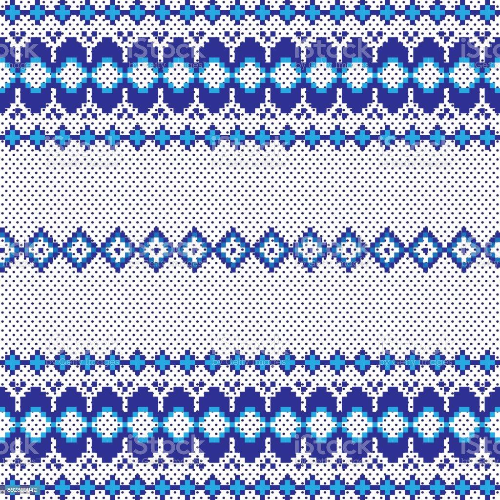 Ilustración De Nacional Patrón Bordado Pixel Transparente Para Su ...