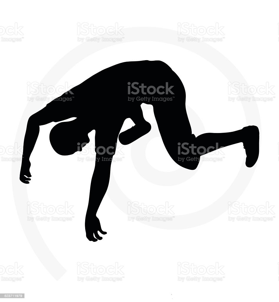 Illustration Of Senior Climber Man Silhouette Royalty Free Stock