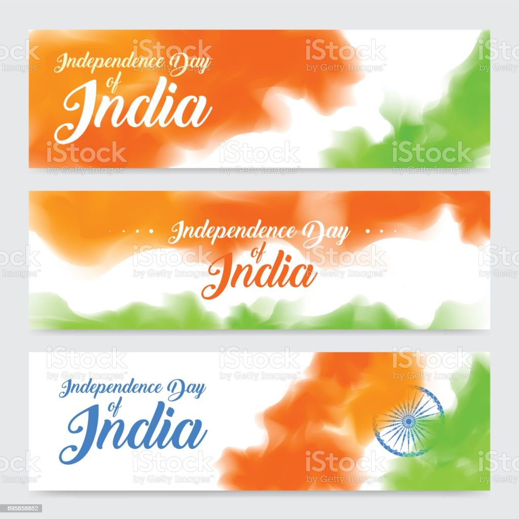 illustration of set of banner and header for colorful India vector art illustration