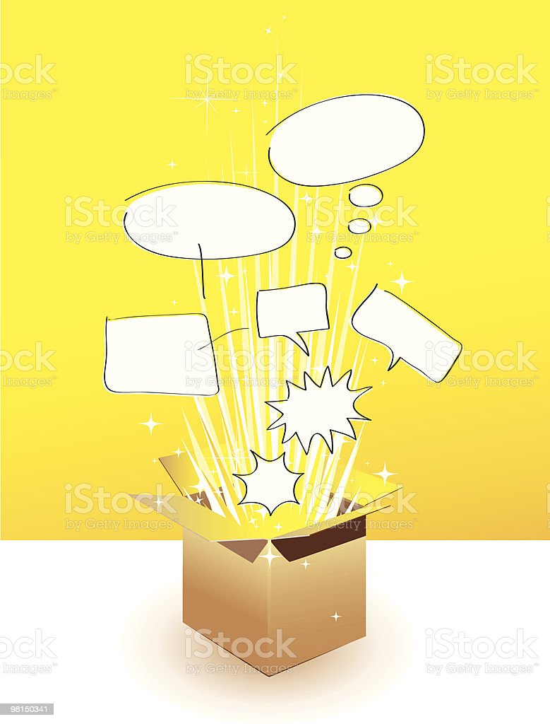 Illustration of shapes pumping out from a box royalty-free illustration of shapes pumping out from a box stock vector art & more images of box - container