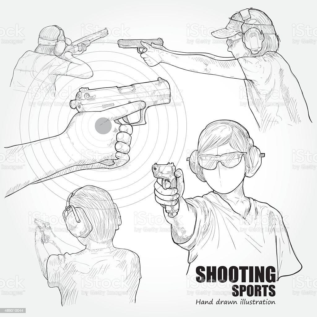 illustration  of Shooting sports vector art illustration