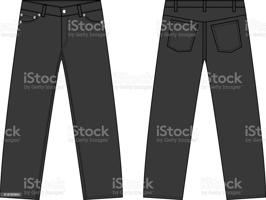 シンプルなデニムのズボンのイラスト イラストレーションのベクター
