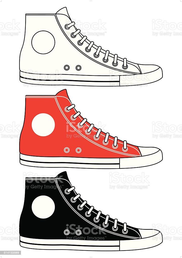 Illustration of sneakers vector art illustration