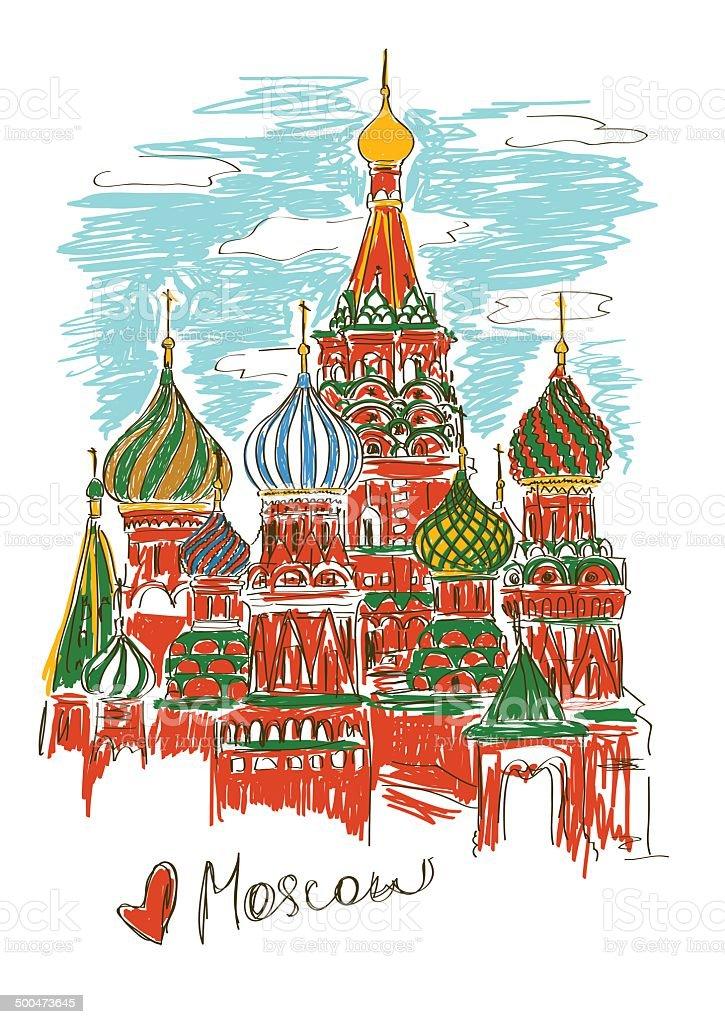 Illustration von St. Basil's Cathedral in Moskau – Vektorgrafik