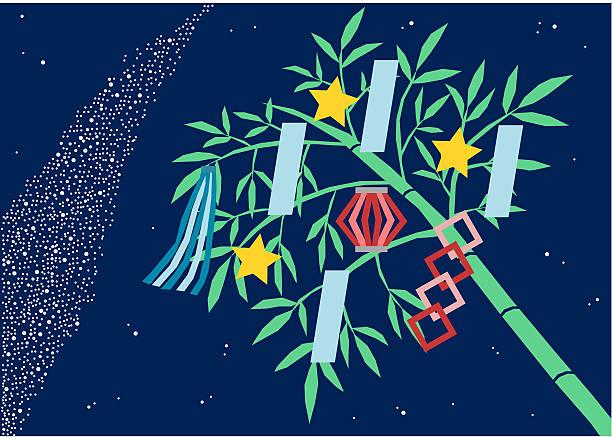 illustration of star festival(colorful) - 七夕点のイラスト素材/クリップアート素材/マンガ素材/アイコン素材