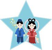 Illustration of Star Festival(Vega and Altair)