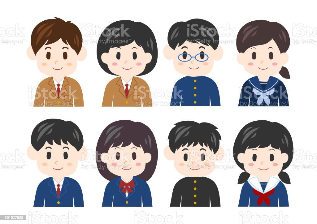 Ilustración de los estudiantes (chico y chica) - ilustración de arte vectorial