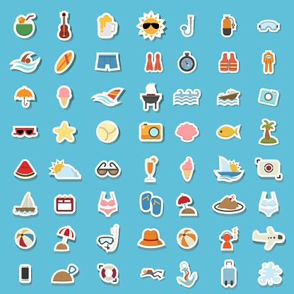 illustration of summer icon