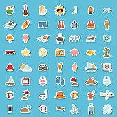 illustration of summer icon vector