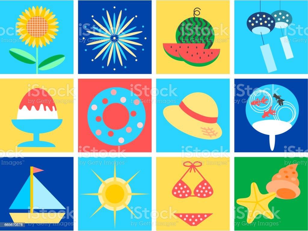 Illustration of Summer vector art illustration