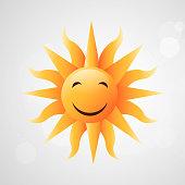 Illustration of sun for summer season background