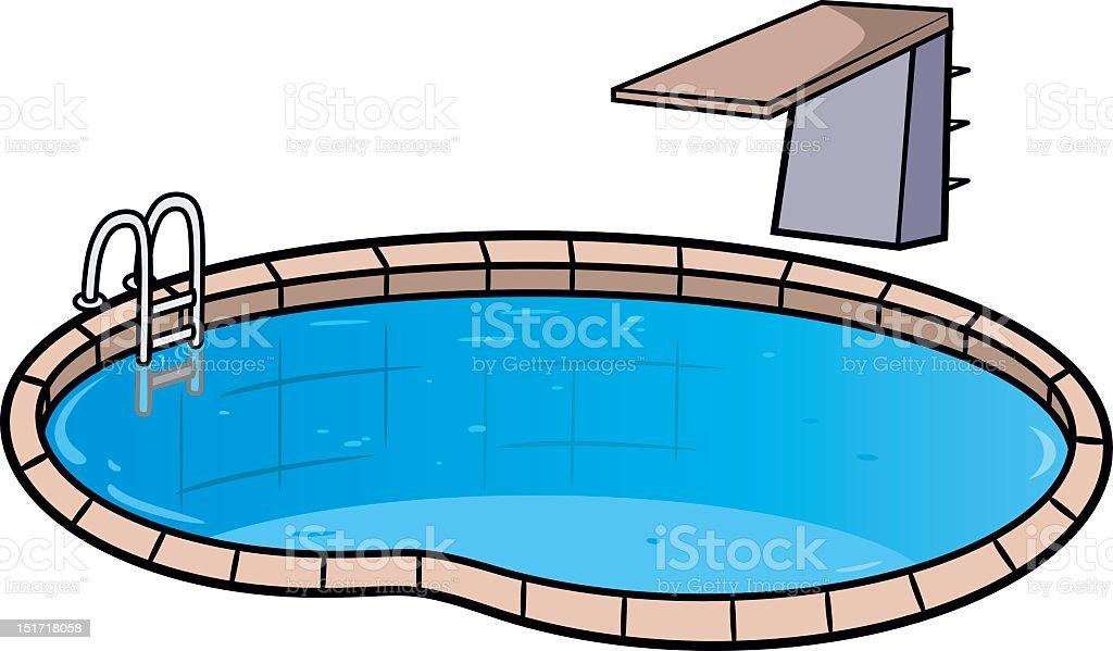 royalty free diving board clip art vector images illustrations rh istockphoto com cartoon swimming pool clipart cartoon swimming pool clipart