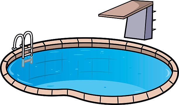 Royalty free diving board clip art vector images - Clipart piscine ...