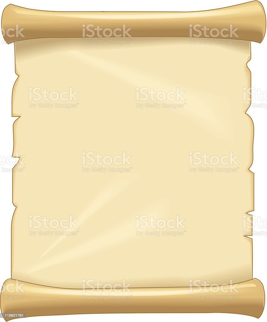 Illustration of tan blank parchment paper vector art illustration