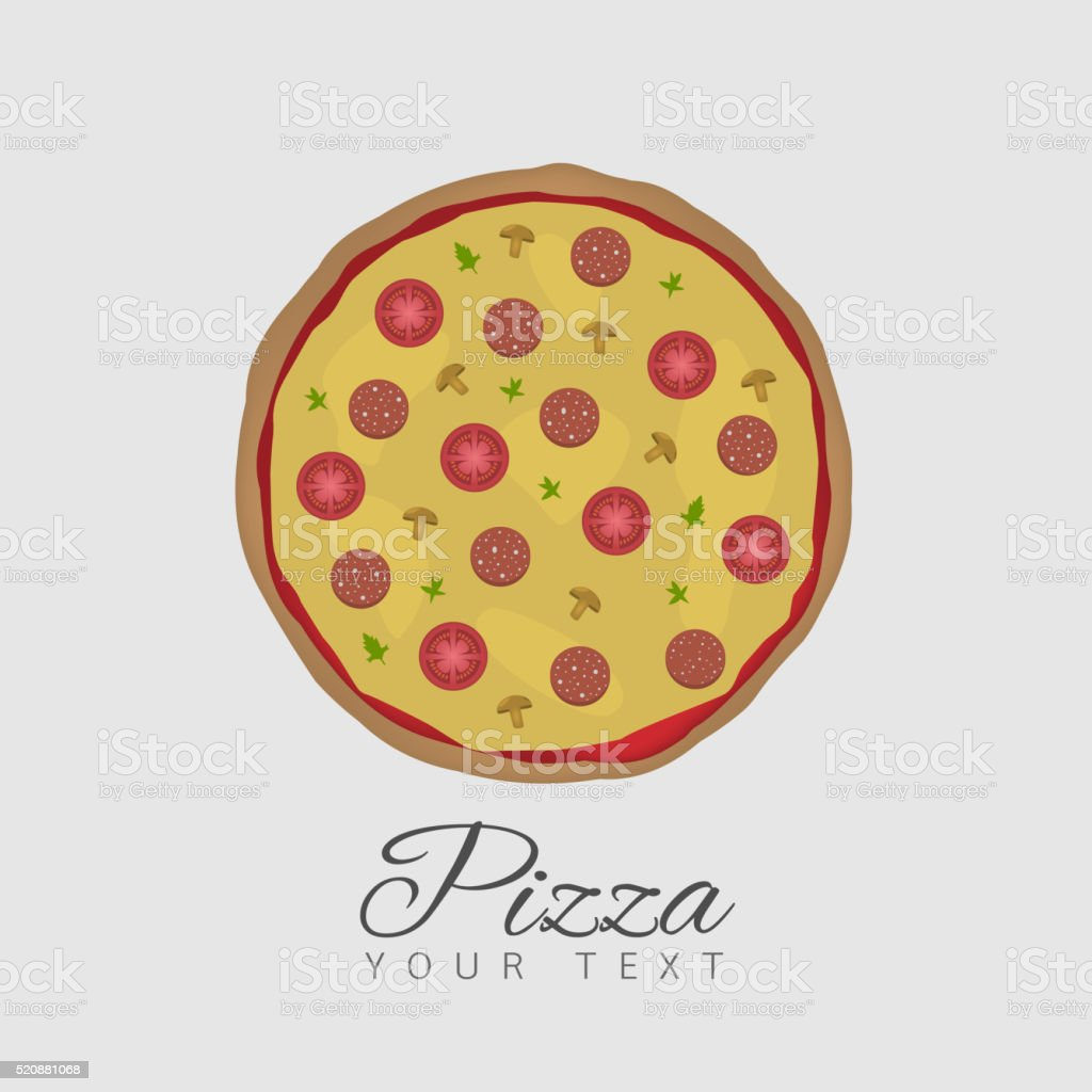Illustration of Tasty Pizza vector art illustration