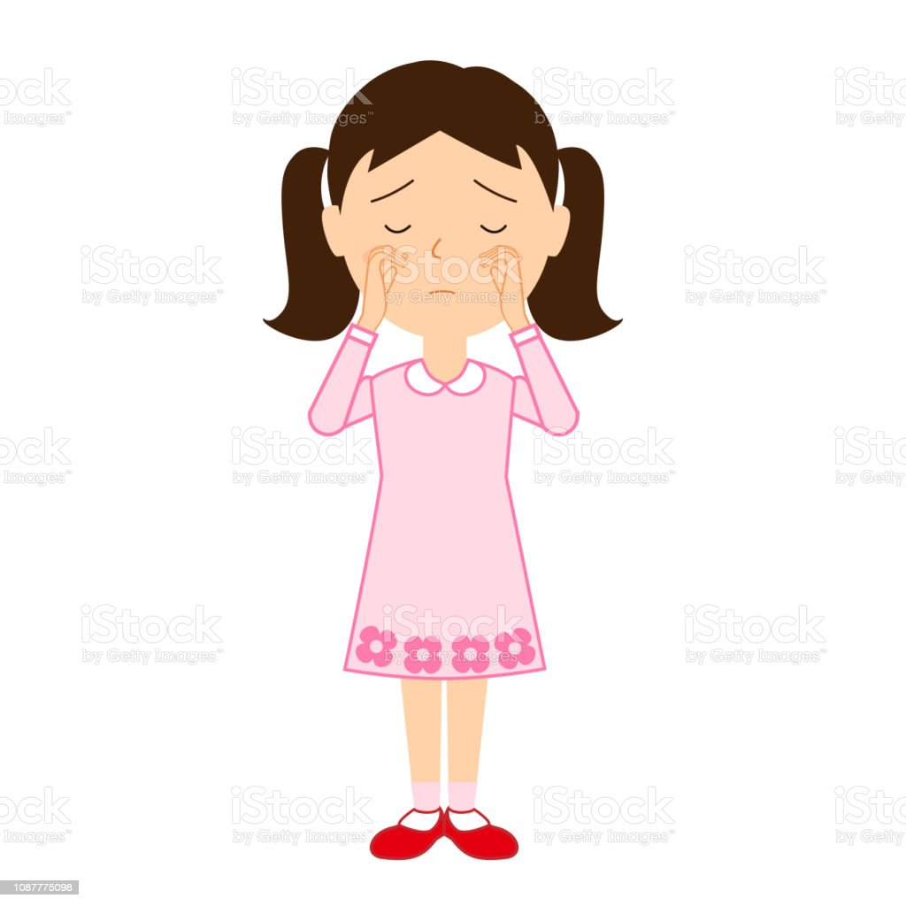 イラスト泣いている女の子 1人のベクターアート素材や画像を多数ご用意 Istock
