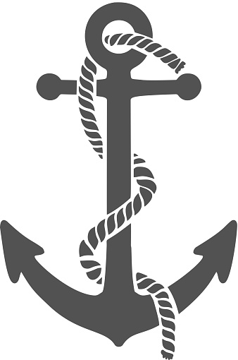 Illustration of the anchor in engraving style. Design element for poster, card, banner, sign. Vector illustration