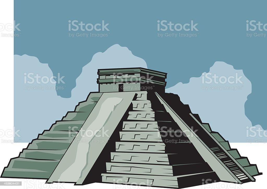 Illustration of the Aztec ruins vector art illustration