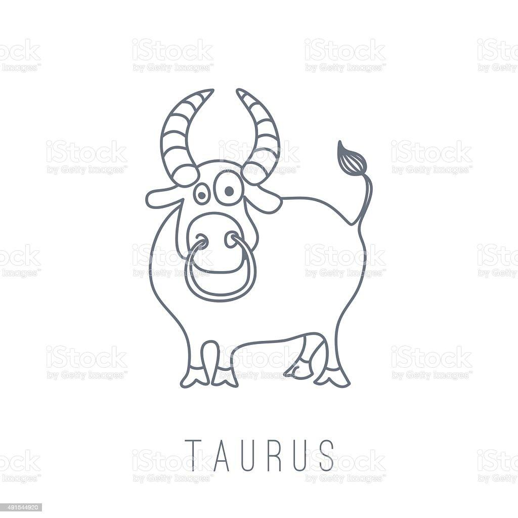 イラストレーションのブル(Taurus ベクターアートイラスト