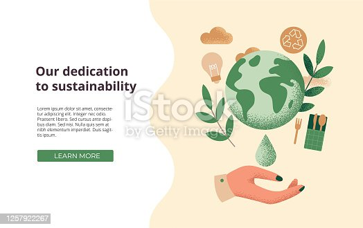 istock Illustration of the concept of sustainability, corporate social responsibility or environmental protection 1257922267