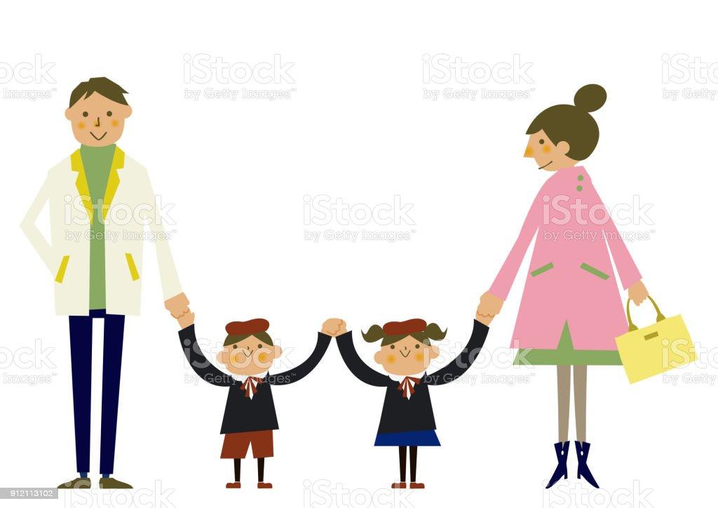 Illustration De La Famille Des Vetements De Printemps Clipart De Saison Parent Et Enfant Clipart Printemps Image De La Famille Vecteurs Libres De Droits Et Plus D Images Vectorielles De Adulte Istock