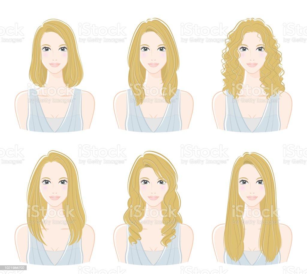 Illustration of the hairstyle vector art illustration