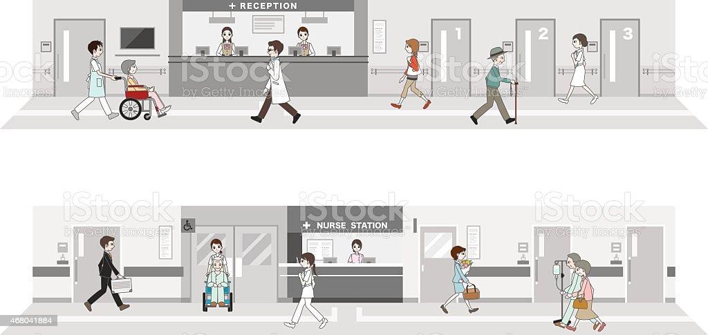 Illustration of the hospital vector art illustration