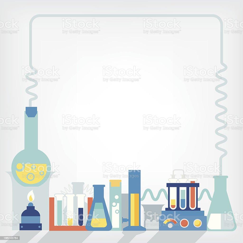 Illustration of the laboratory vector art illustration
