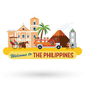 Illustration of the Philippines's landmarks and icons