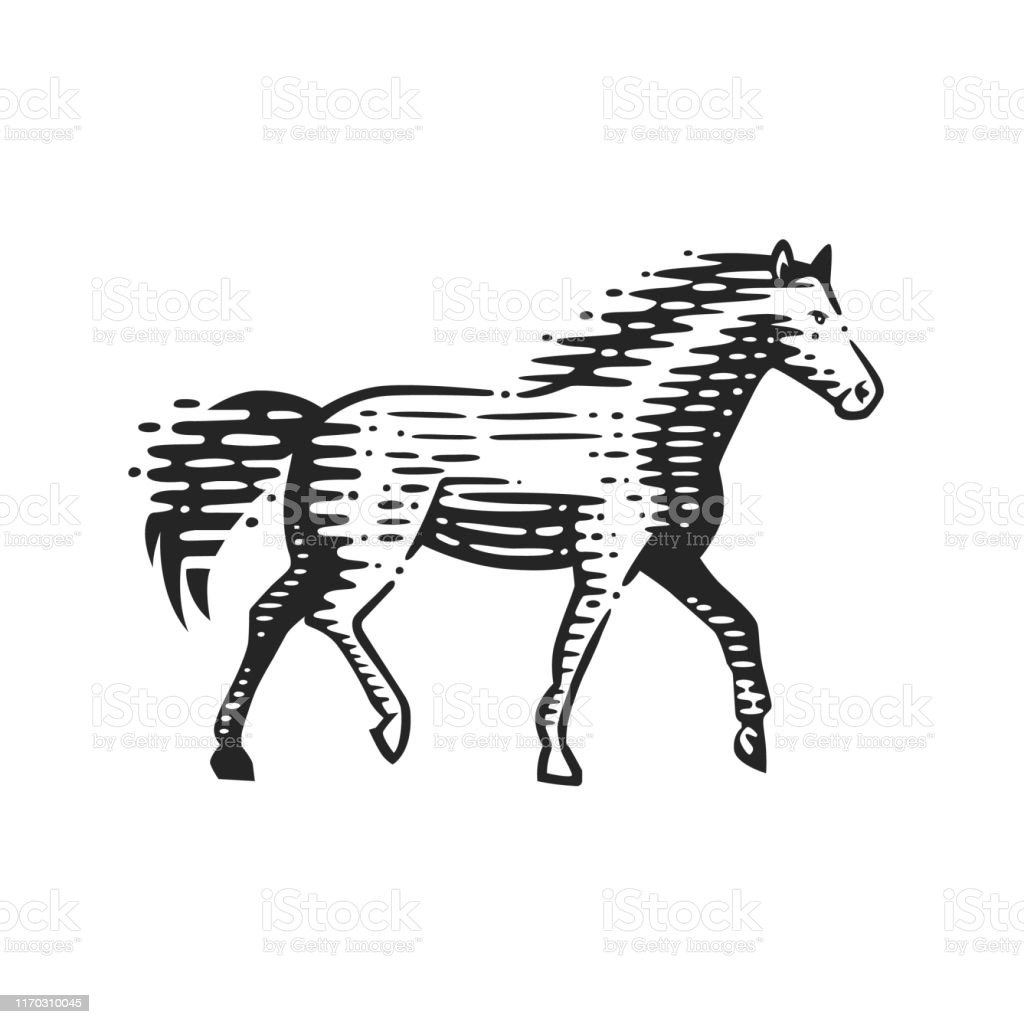 Illustration Of The Running Horse Stock Illustration Download Image Now Istock