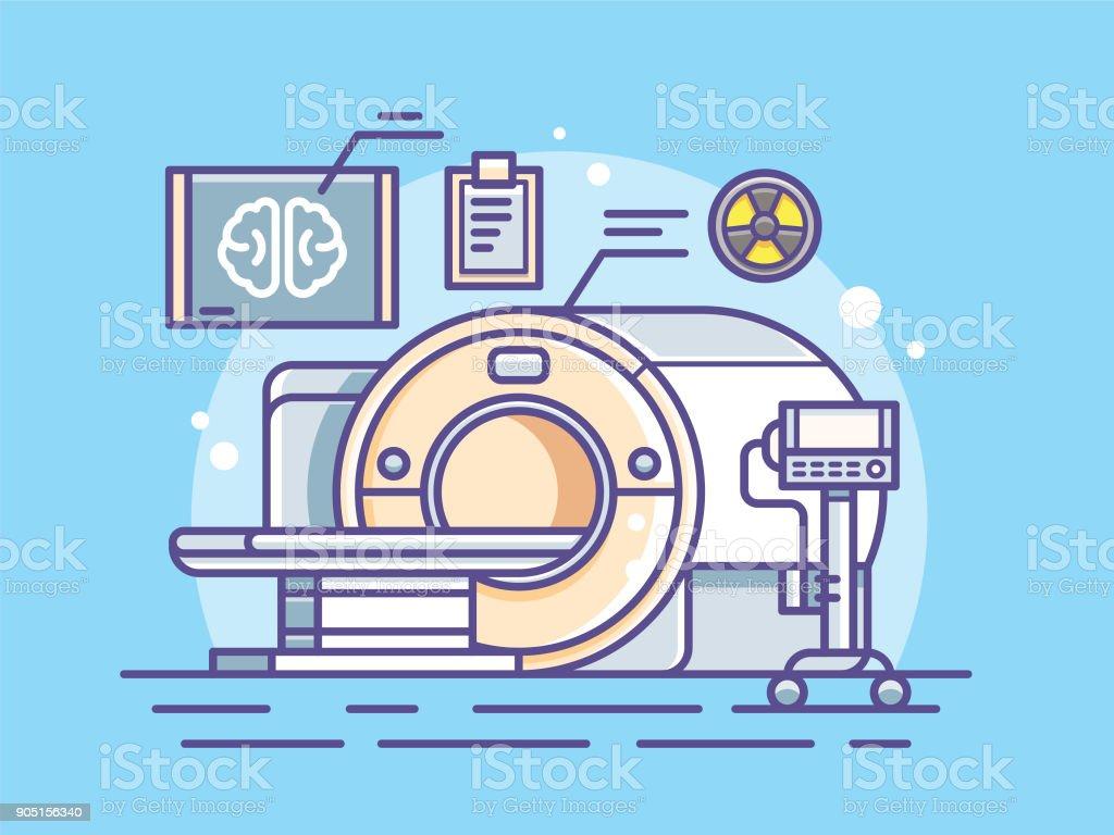 illustration of the scanner vector art illustration