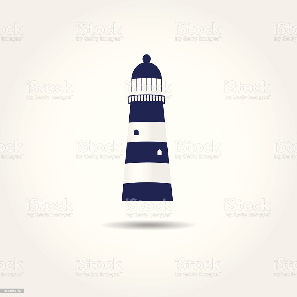 illustration of the sea and a light house vector art illustration