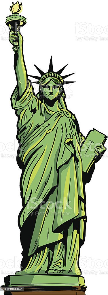 Illustration of the Statue of Liberty vector art illustration
