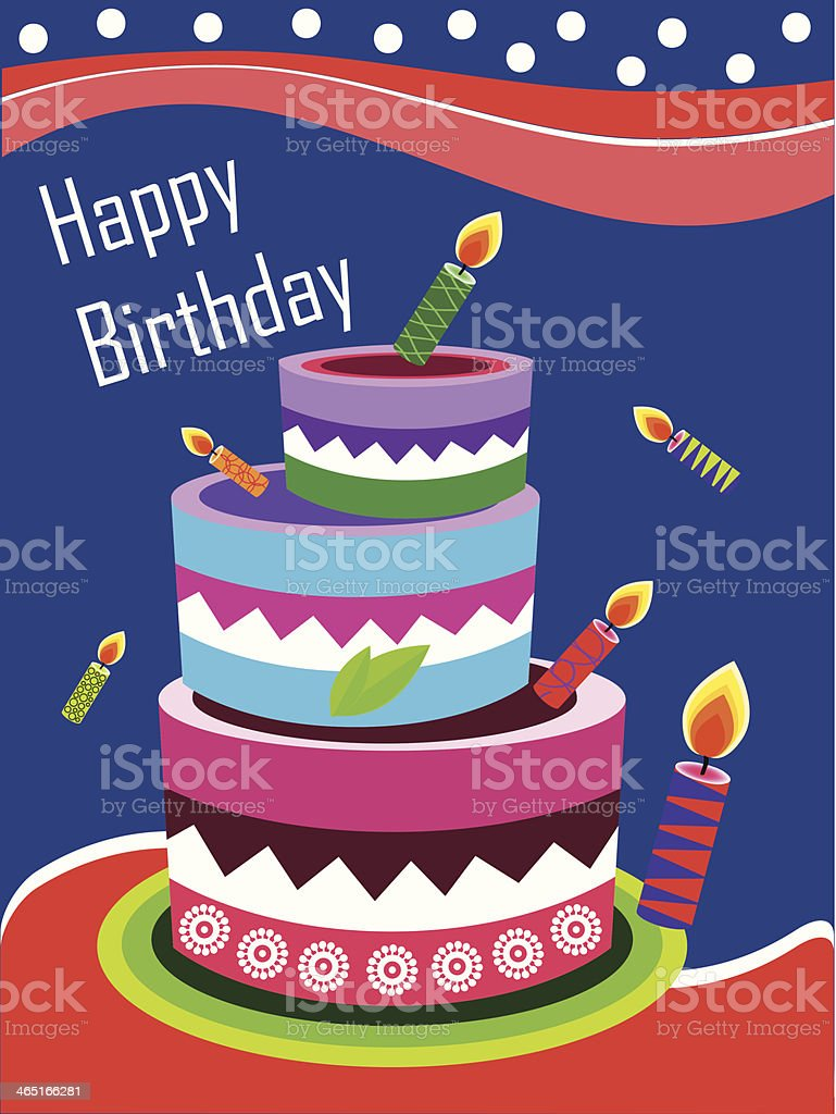 Enjoyable Illustration Of Tiered Cake On Funny Birthday Card Stock Funny Birthday Cards Online Barepcheapnameinfo