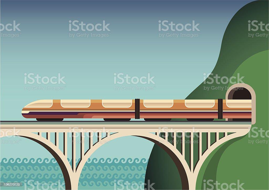 Illustration of train. vector art illustration