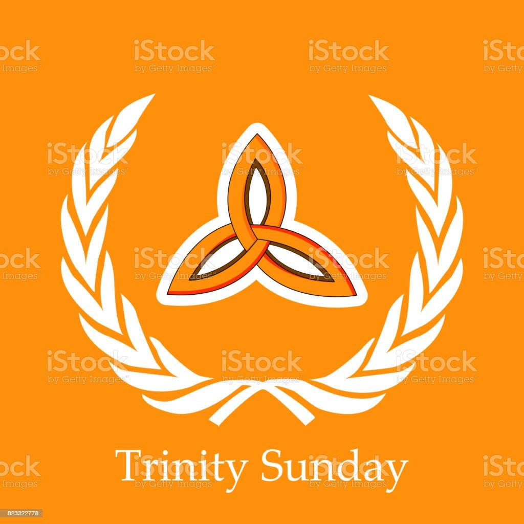 illustration of Trinity Sunday Background